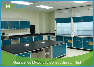 Modern Science Laboratory Furniture With Steel Table and Metal Chemical Fume Hood
