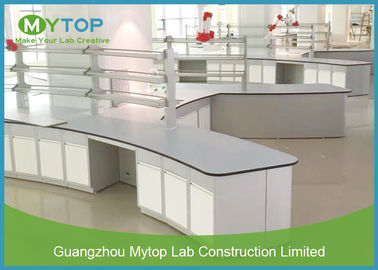 Multi Function Science Laboratory Furniture Island Bench High Temperature Resistance